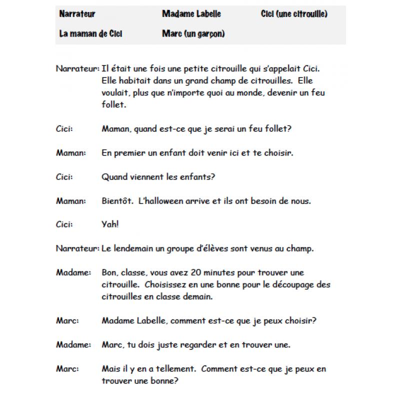 L Halloween Cinq Pieces De Theatre Teaching Drama Teaching French Theatre