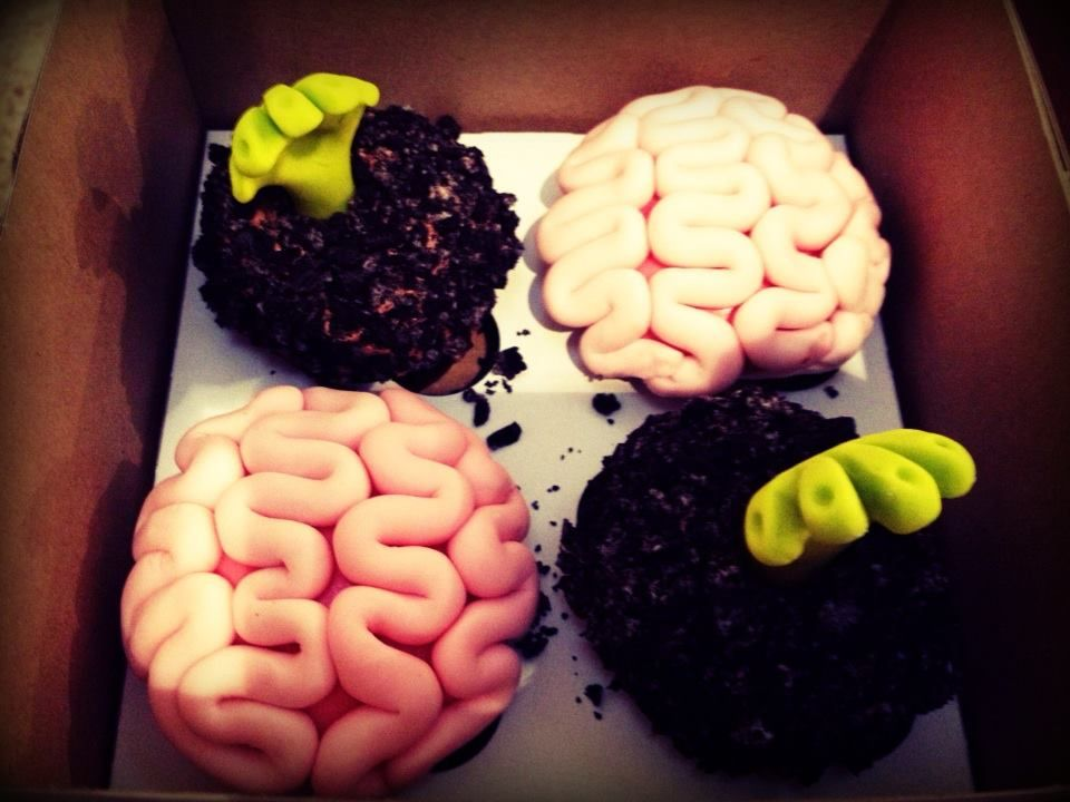 Zombies And Brains! Food, Desserts, Cupcakes