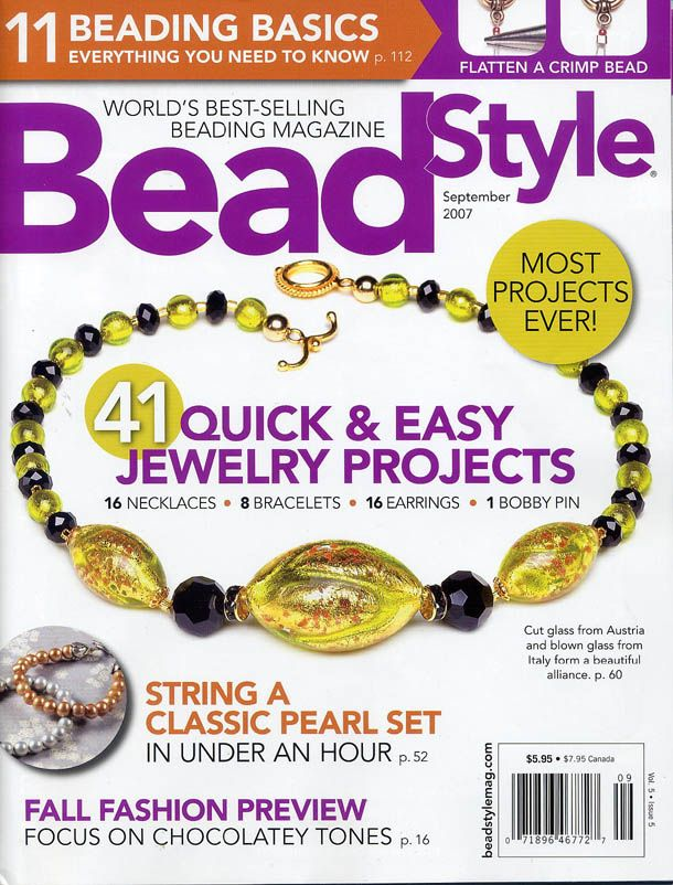 Lisa Kan Designs: Publications BeadStyle September 2007 | Jewelry ...