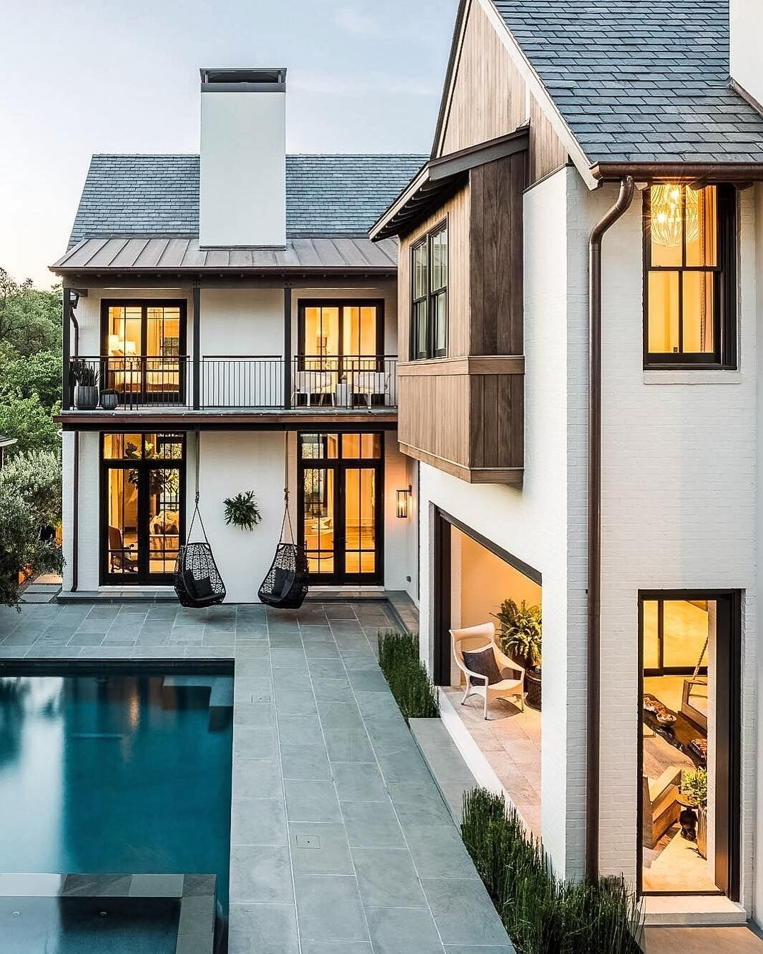 Christian Daw On Instagram So I M Pretty Sure I M Using Some Hanging Chairs On The Boathouse But I House Exterior Dream House Exterior House Styles