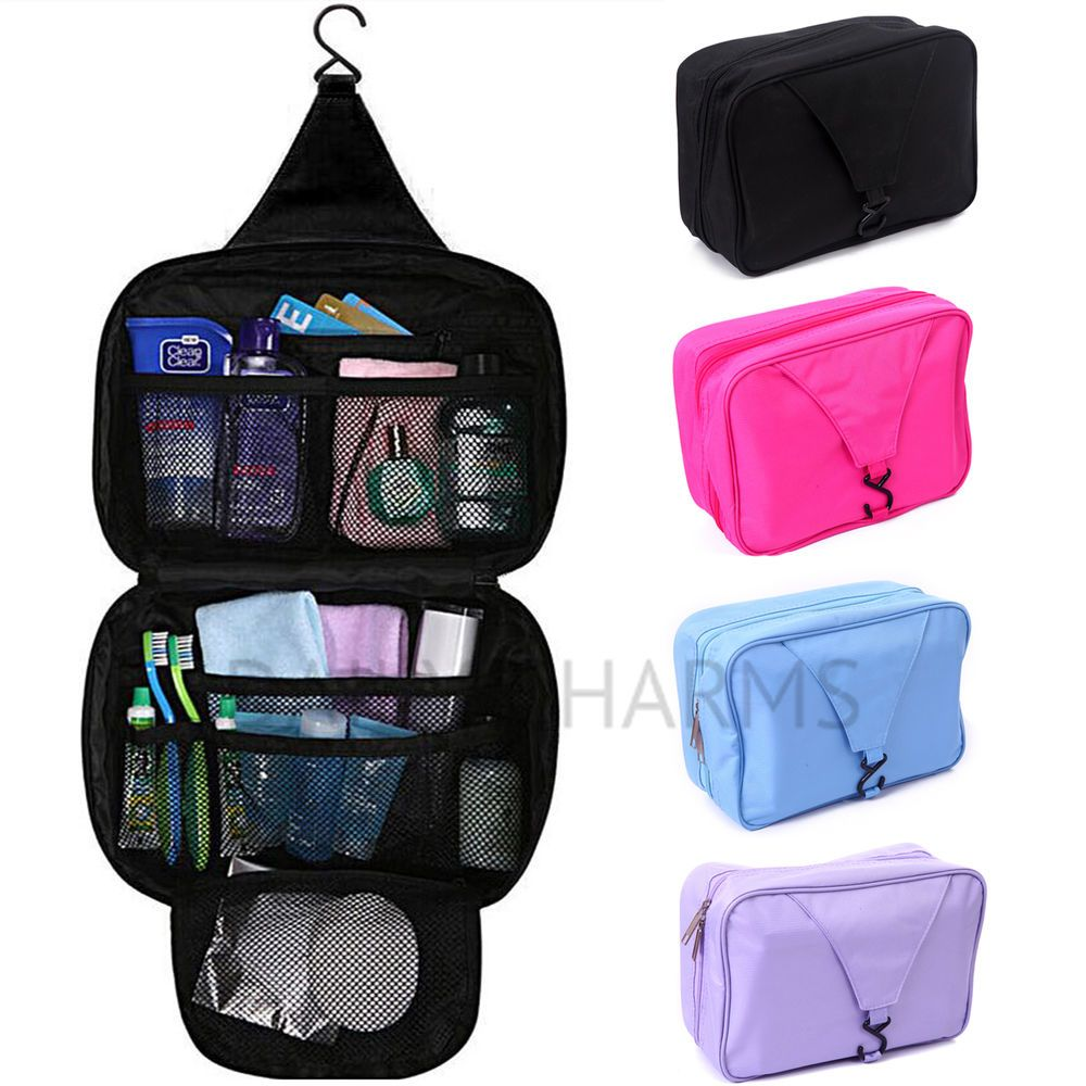 Bathroom Shower Travel Organizer Toiletry Cosmetic Make Up Wash Bag Hanging Hook Dailycharms Cosmeticbags