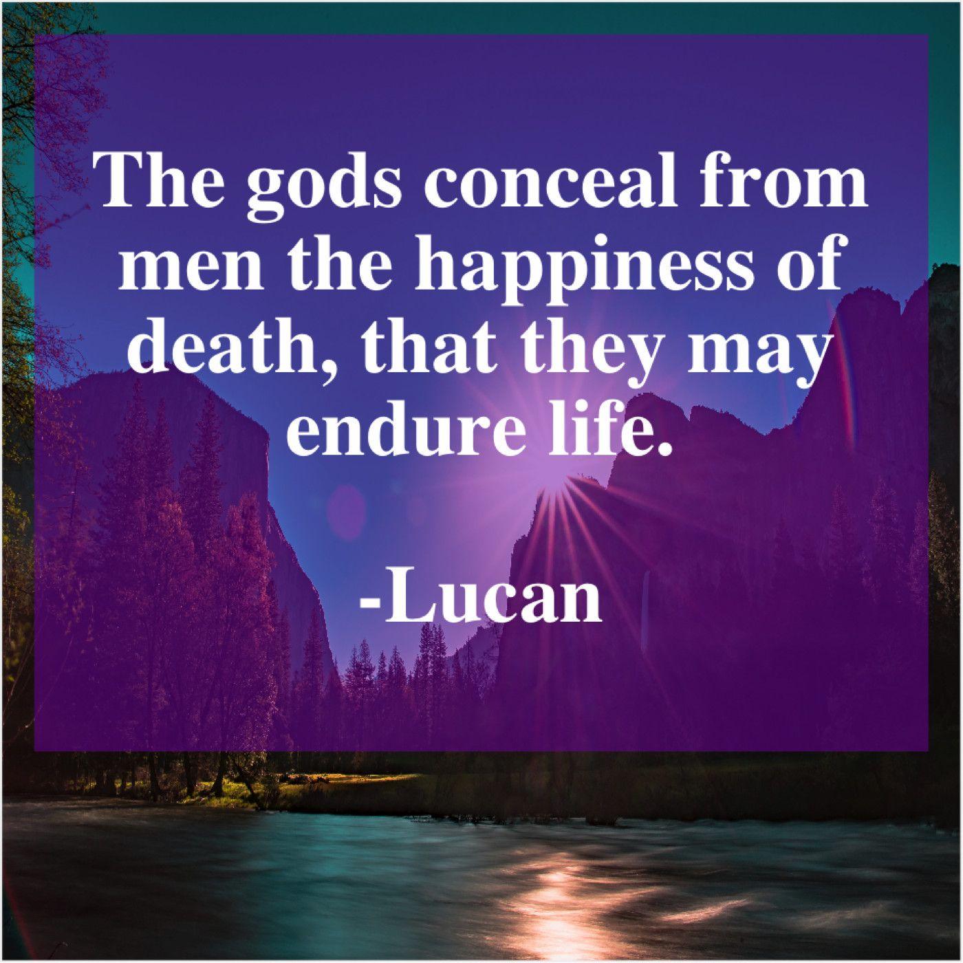 Lucan The Gods Conceal From Men Lucan Concealed Men