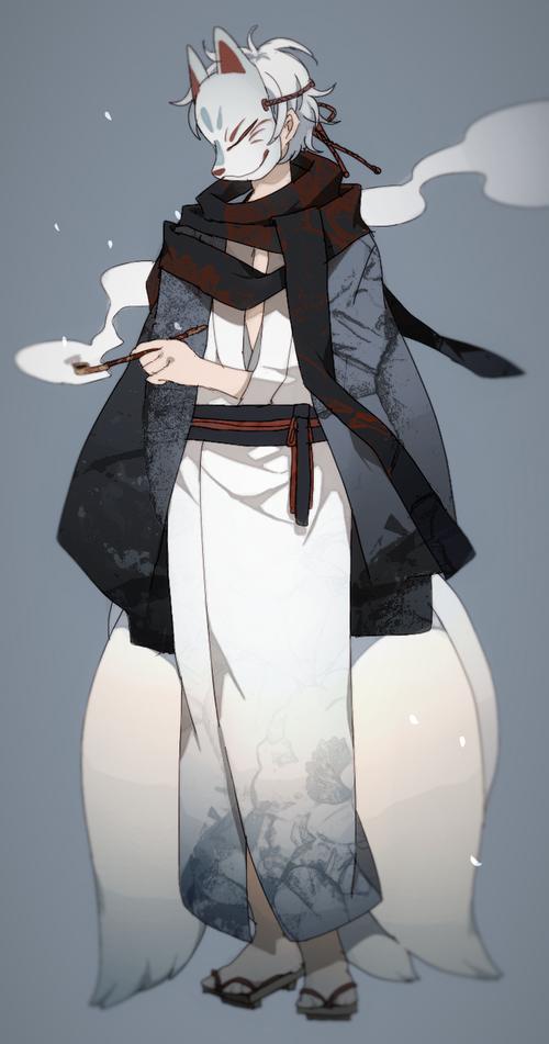 Fox mask, boy, kitsumi, Japanese, anime boy image