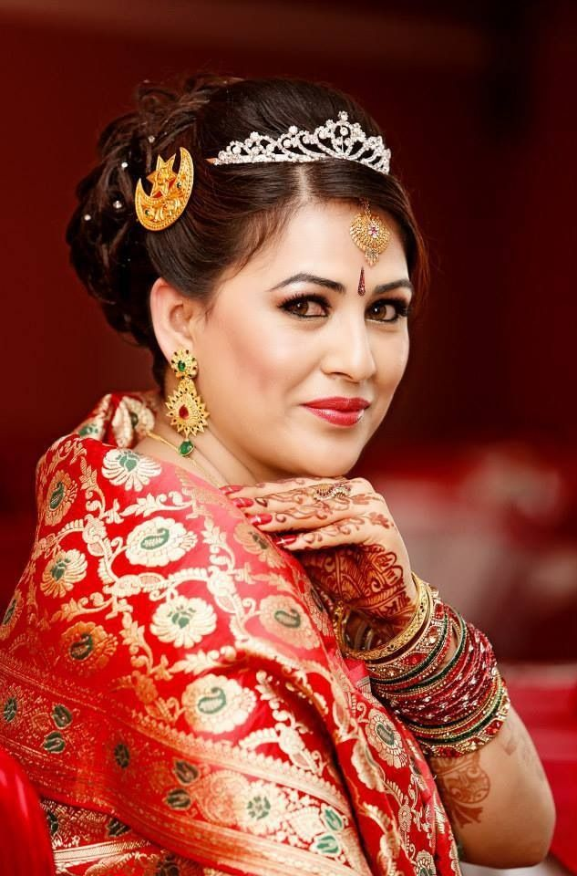 Beautiful Nepali Bride Bridal Hairstyle For Reception South Indian Wedding Hairstyles Pakistani Bridal Hairstyles