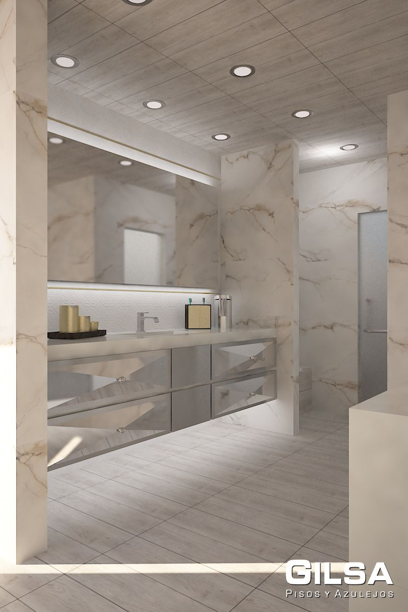 Cuarto de ba o de estilo cl sico materiales utilizados for Materiales de marmol