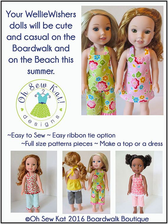 Wellie Wishers Doll Clothes Sewing Pattern 14 inch by OhSewKat ...