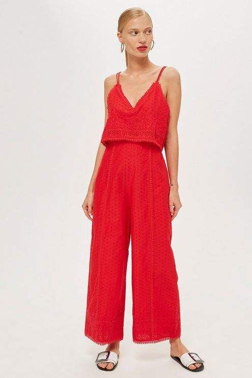 ae26040305ac Topshop Embroidered strappy jumpsuit