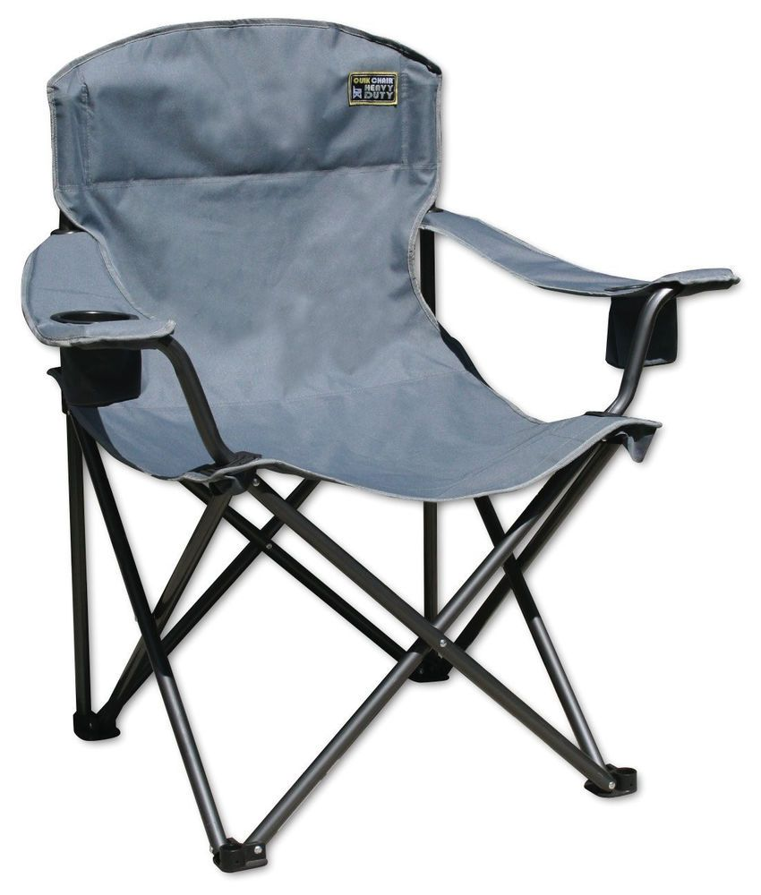 Black Friday Quik Chair Heavy Duty Ton Capacity Folding Chair With Carrying  Bag (Grey) From Quik Shade