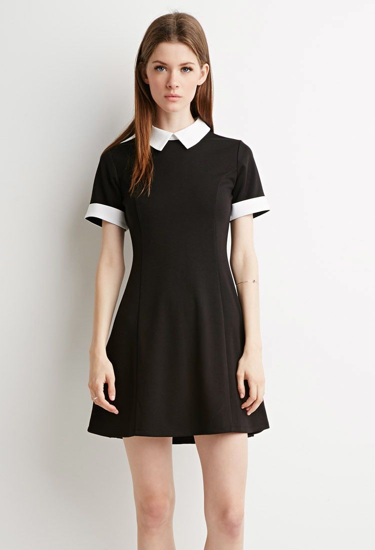 Contrast-Collared Dress | Forever 21 Canada | Fashion ...