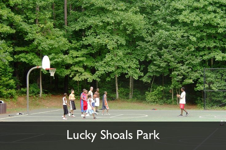 Outdoor Basketball Courts Lucky Shoals Park Norcross Georgia Www Gwinnettparks Com Outdoor Basketball Court Basketball Park Parks And Recreation