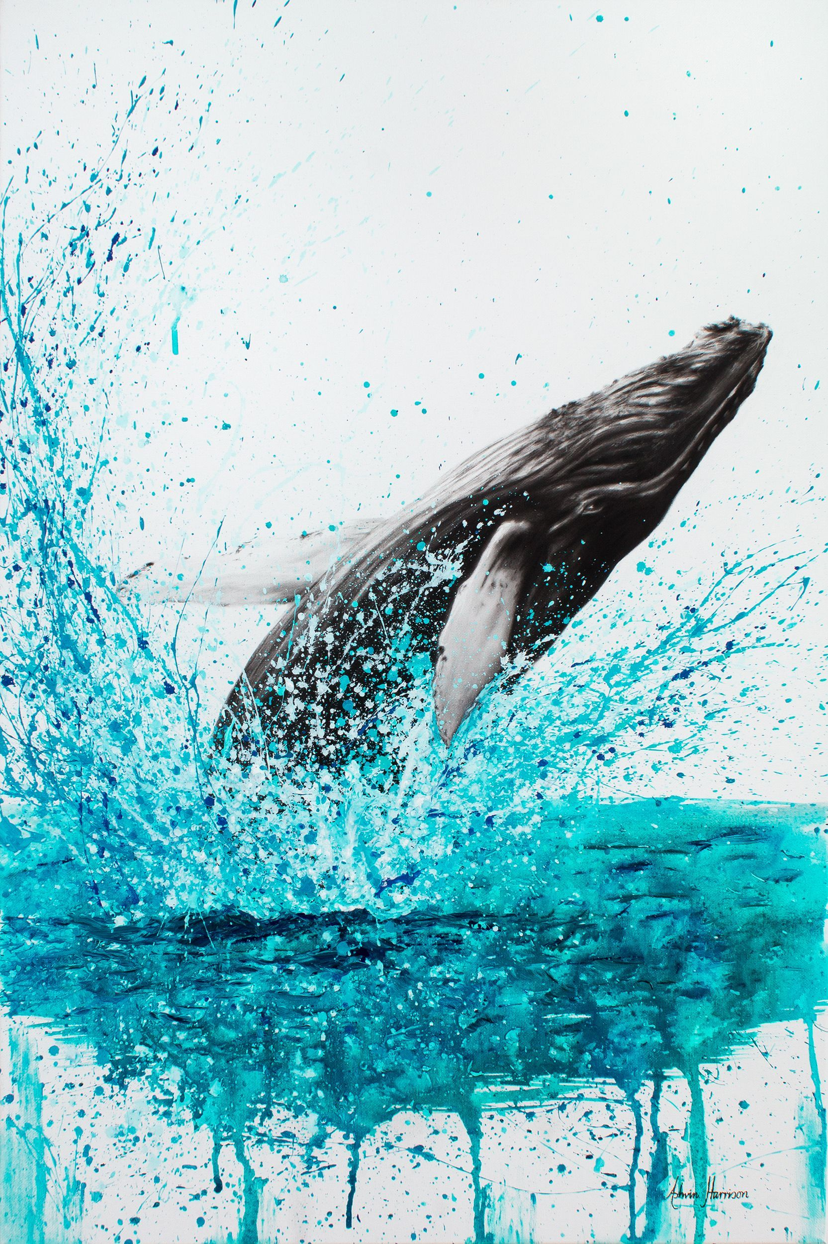 Burleigh Heads Humpback By Ashvin Harrison Paintings For Sale Bluethumb Online Art Gallery Humpbackwhale H Whale Painting Whale Illustration Animal Art