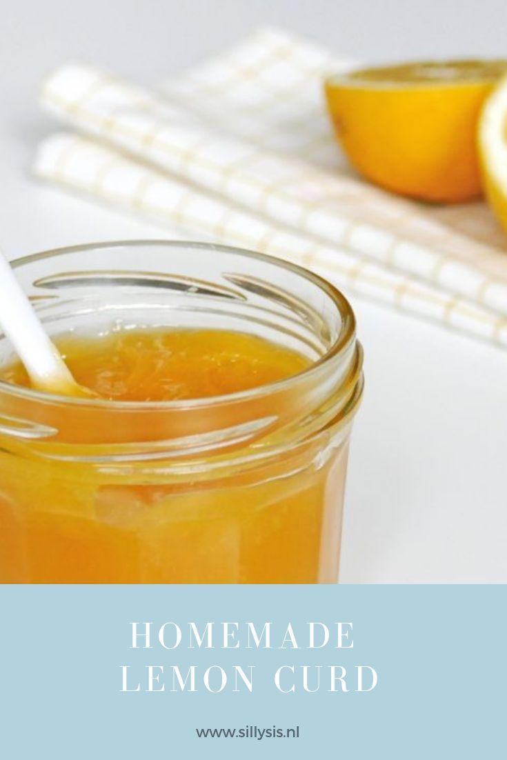 homemade lemon curd  citroen recepten zoete lekkernijen