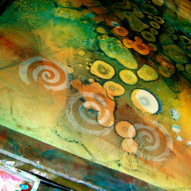 Pre painting backgrounds created before the painting for Acrylic background techniques