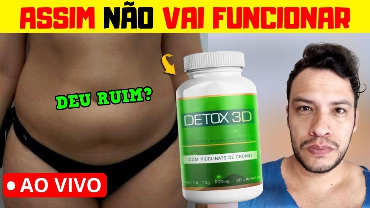 detox 3d emagrece mesmo
