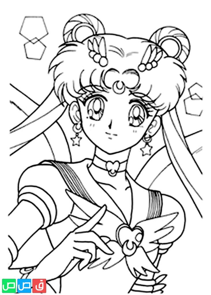 رسومات للتلوين للبنات أكثر من مائة صورة جاهزة للطباعة قصص اطفال Sailor Moon Coloring Pages Sailor Moon Coloring Books
