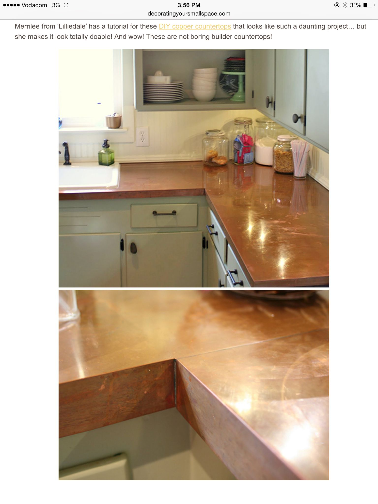 Copper Kitchen Countertops Update Cost Estimate Counter Tops My Craft Ideas Pinterest Diy