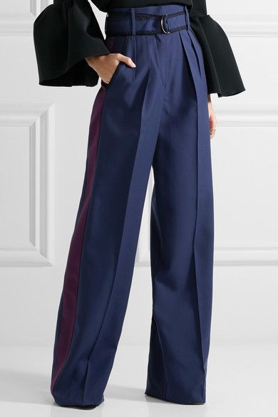 Laine Et Pantalon Large Jambe Soie Roksanda Ilincic 1plyMR