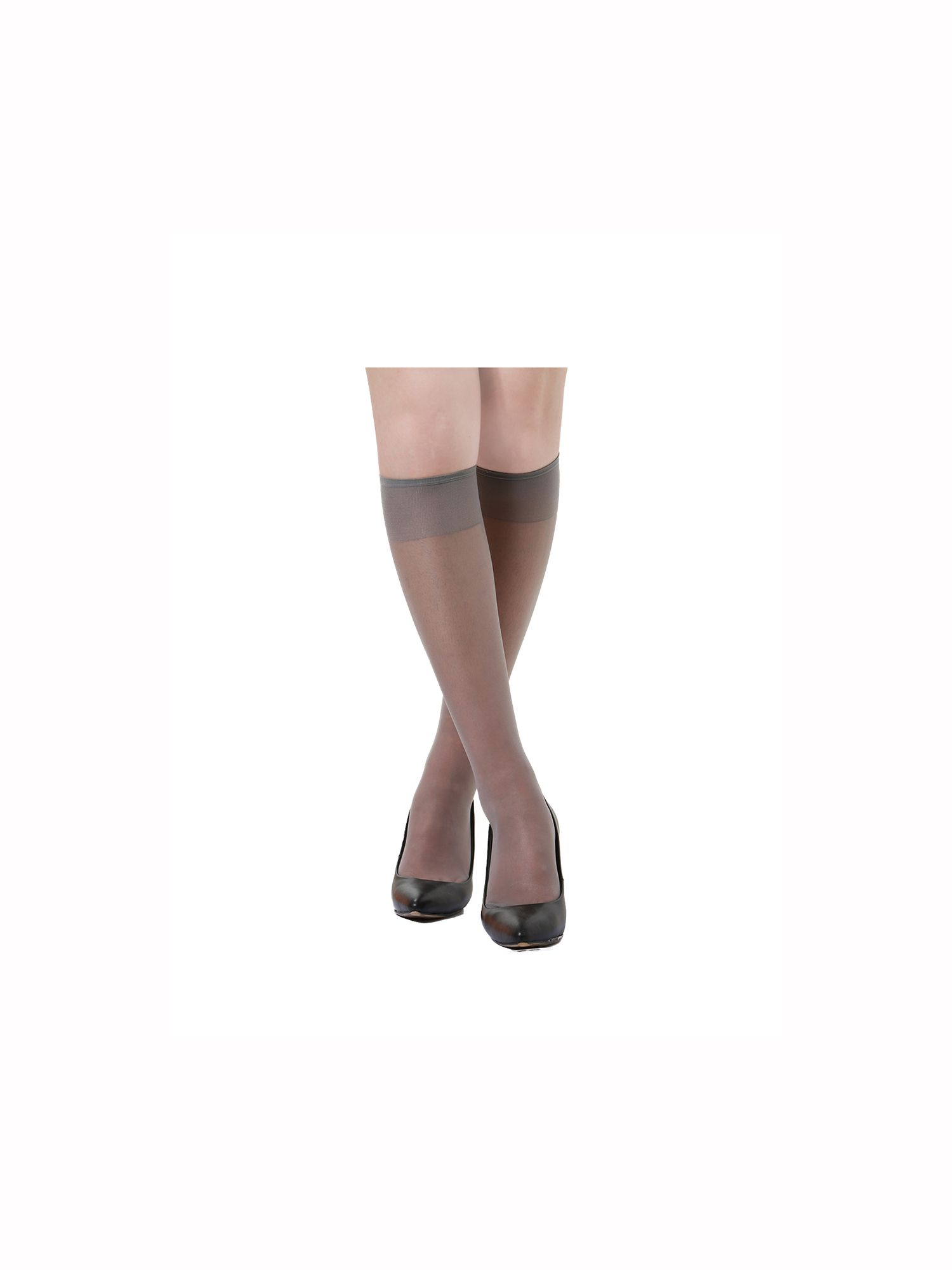 11c70ea1d08143 Unique Bargains Women's Knee High Silky Reinforced Toe Sheer Socks  Stockings 10 Pack#Knee, #High, #Silky