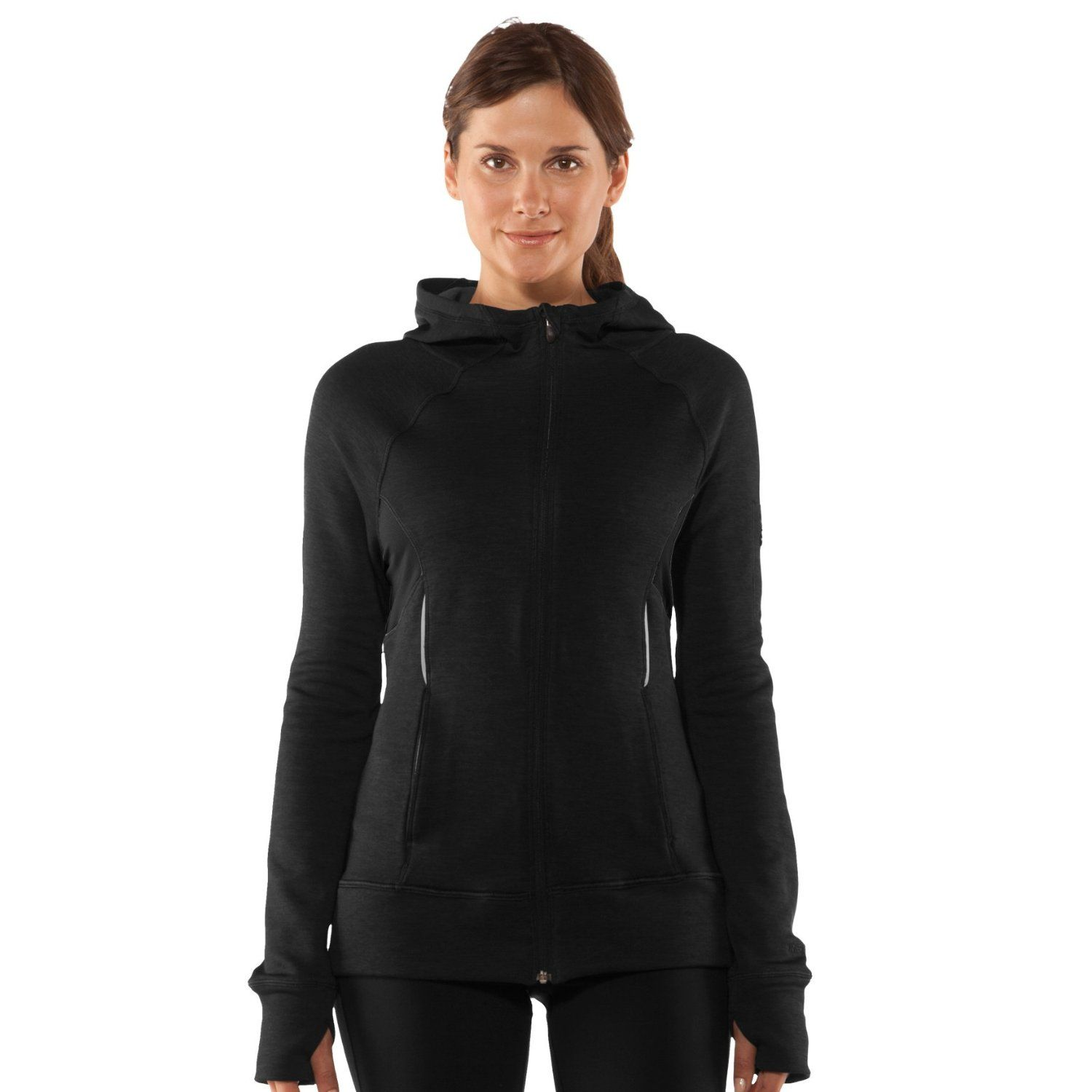 Womens UA Storm Fleece Full Zip Tops by Under Armour Medium Black ... 84be6a1341