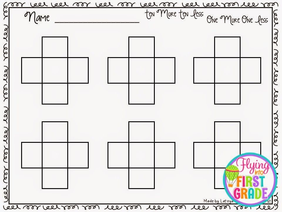 Ten More Ten Less One More One Less Freebie!!! | Top Teachers