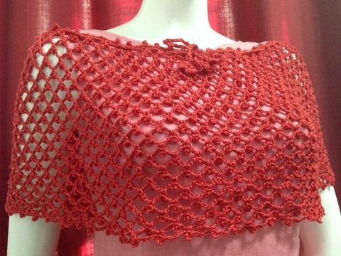 This is a free crochet pattern for Easy Crochet Poncho with a photo ...