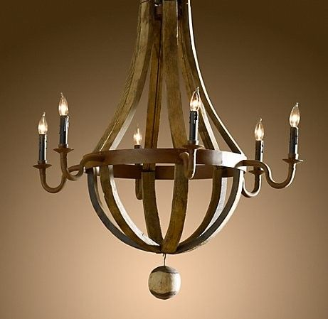 Restoration Hardware Version Of My New Wine Barrel Chandelier From Hd To Keep Or Not