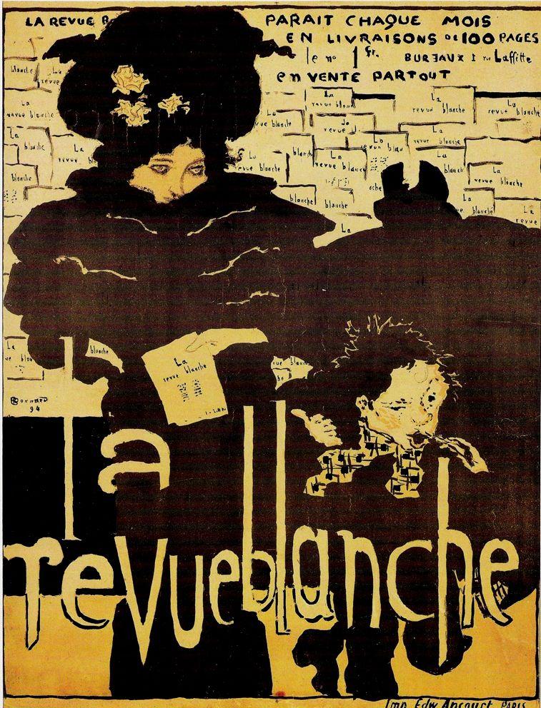 Art Nouveau Period Poster for La Revue Blanche by Pierre Bonnard, 1894 graphisme,publicité,affiche