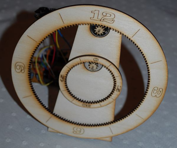 Laser Cut Gear Clock Diy Gear Clock Laser Cutting