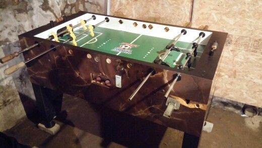 Remarkable Redone Tornado Foosball Table Set Up For Goalie Wars Download Free Architecture Designs Intelgarnamadebymaigaardcom