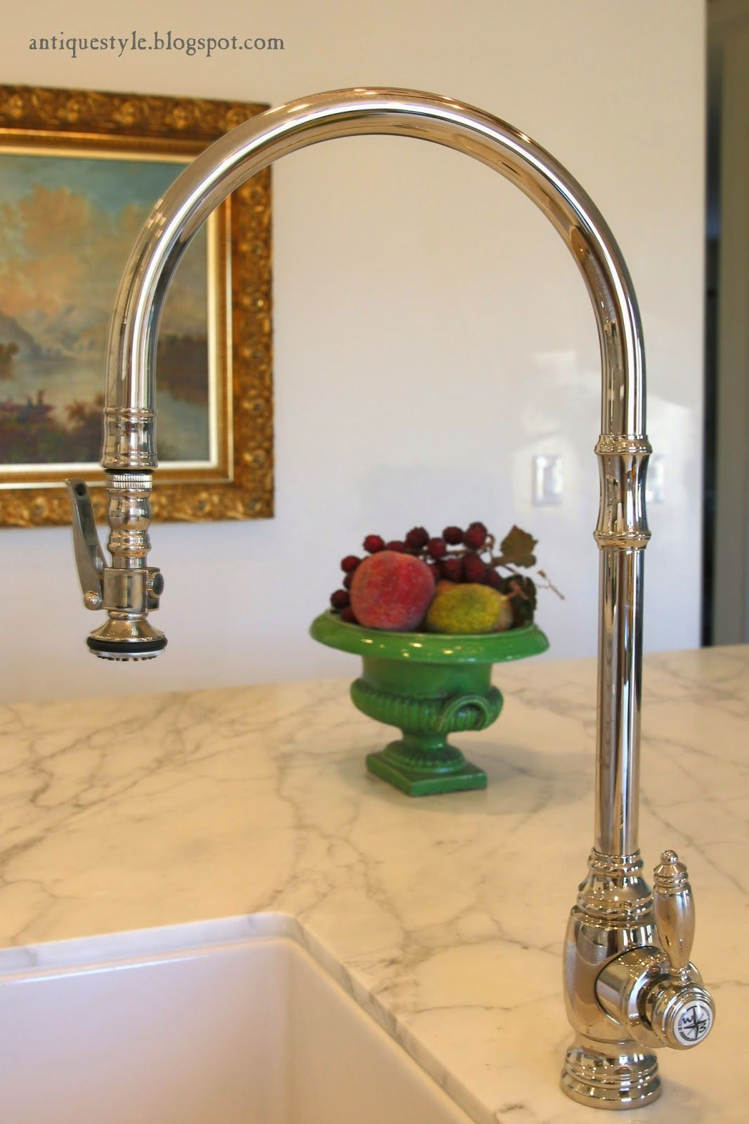 Farmhouse Kitchen Faucet Farmers Sink Antique Style Waterstone Pulldown 5600 Faucets
