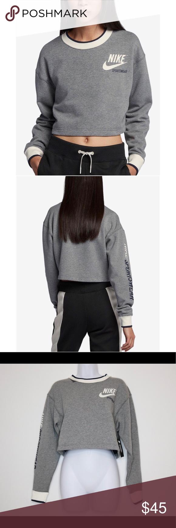 Predownload: Nike Reversible Fleece Cropped Sweatshirt Crop Sweatshirt Clothes Design Sweatshirts [ 1740 x 580 Pixel ]