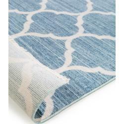 Photo of benuta Viskoseteppich Yuma Blau 300×400 cm – Vintage Teppich im Used-Look benuta