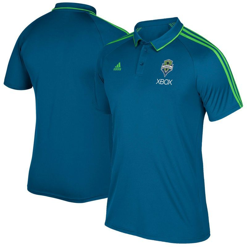 Seattle Sounders FC adidas Coaches climalite Polo - Blue