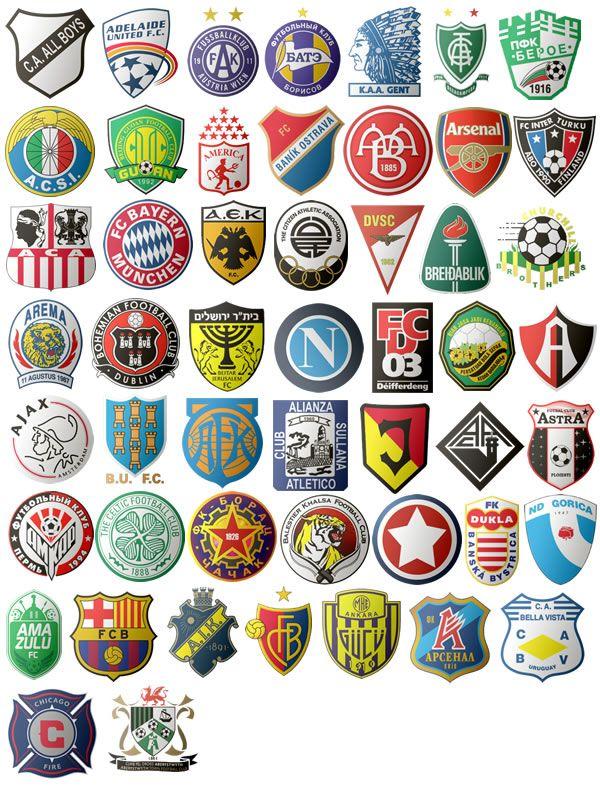 Football club logos with names