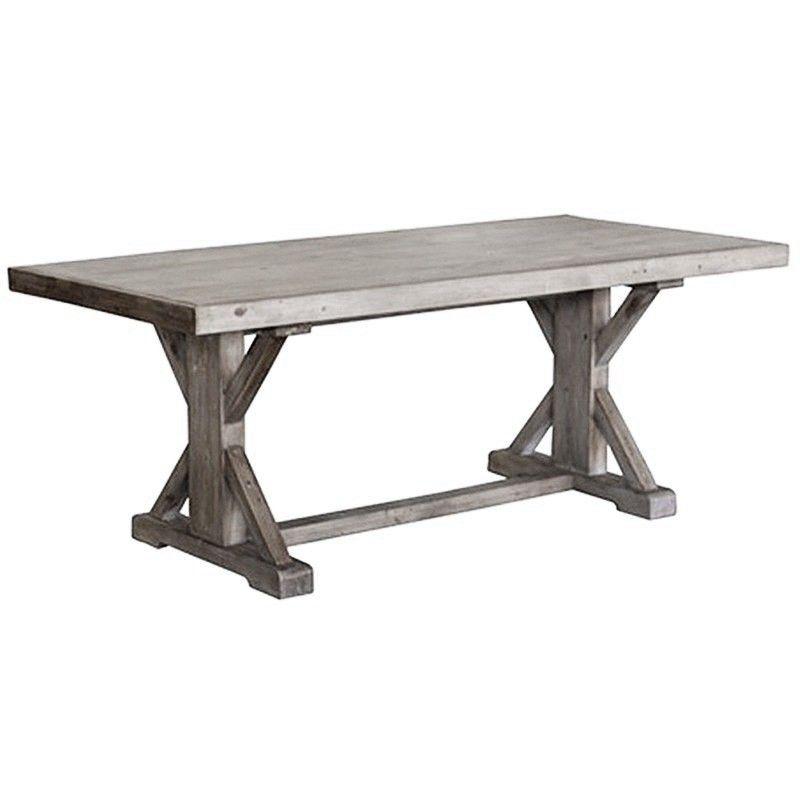 Ballarat Reclaimed Pine Timber 193cm Cross Leg Dining Table Dining Table Timber Dining Table Dining Table Legs