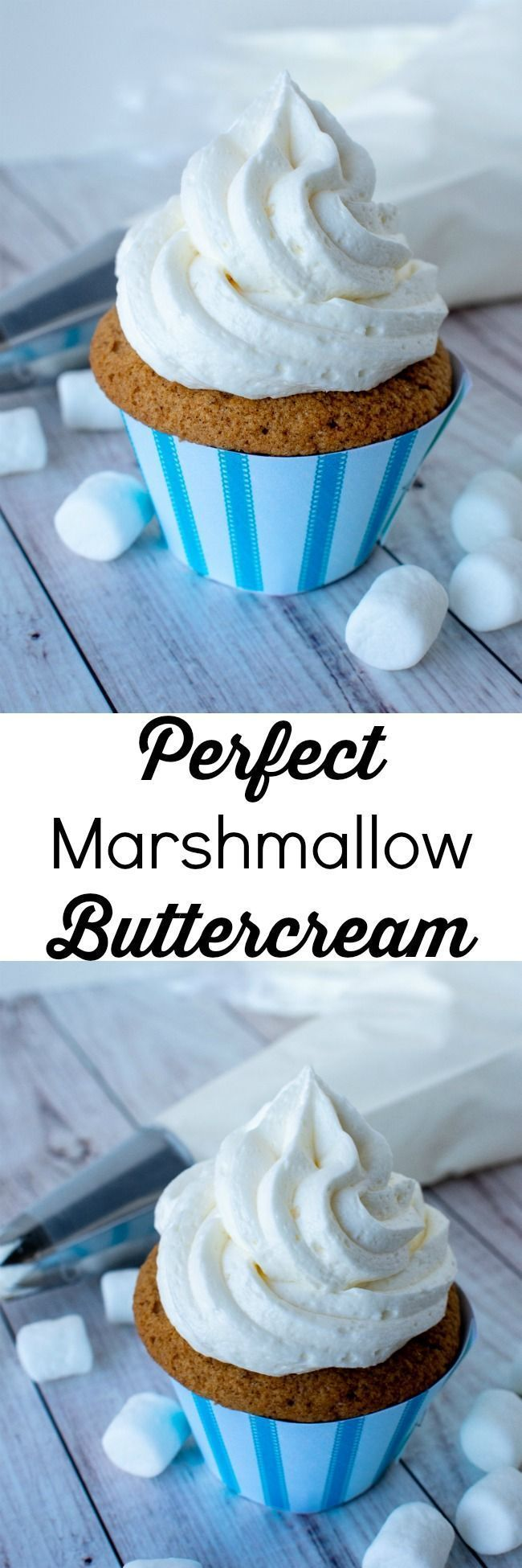 Perfect Marshmallow Buttercream Frosting #marshmallows