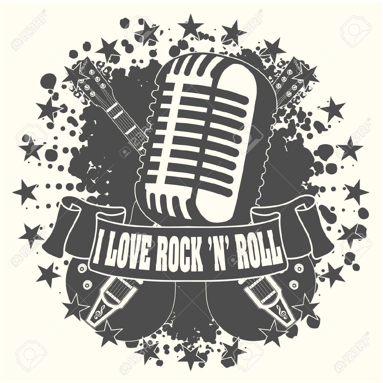 Rock n roll google search logo de rockeros pinterest rock illustration of the image symbol i love a rock n roll vector art clipart and stock vectors buycottarizona