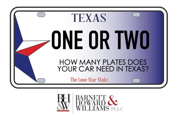 what does texas law say about license plates do you need one or two rh pinterest com