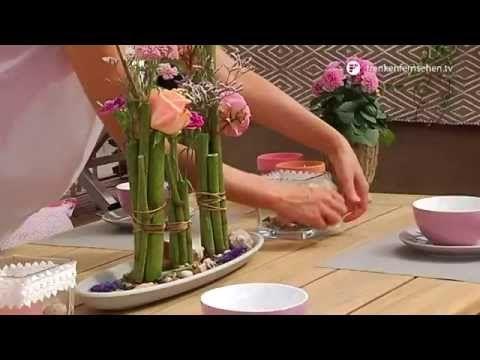 Photo of Sommerlig borddekorasjon for hagen – blad- og blomsterpiss fra Gartenwelt Dauchenbeck