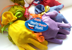 Kids love these colored gloves and all the goodies inside!   #partyfavors #birthdayfavors