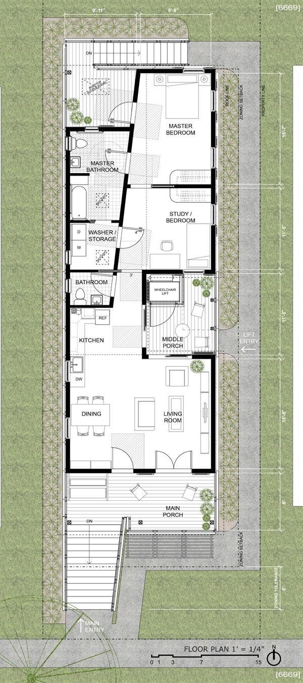 Design Contest Finalists Announced Custom Home Shotgun House Floor