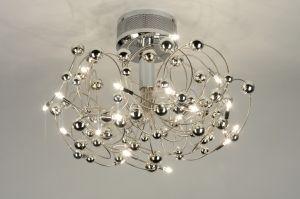 plafondlamp 71926: modern, design, chroom, rond 189 euro