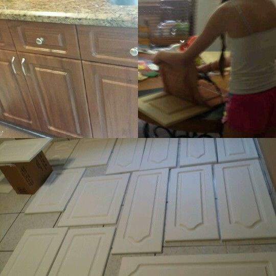 kitchen cabinets refacing diy thermofoil can be removed with a blow dryer and use rustoleum transformation
