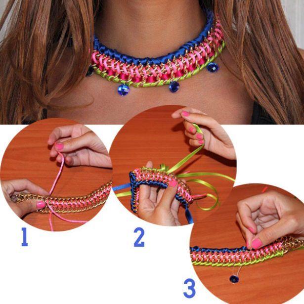 3ced0f15fb45 Sigue el paso a paso para hacer este collar. Collares Con Piedras