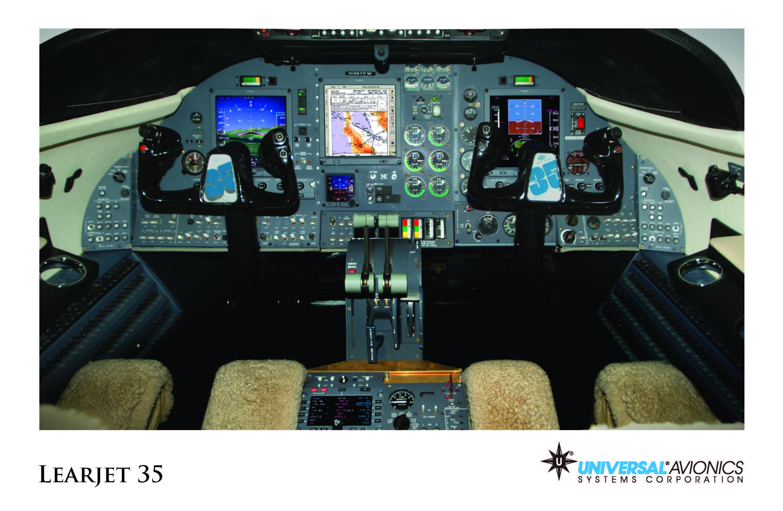 Universal Avionics: Learjet 35 - (1) Display Suite: 3 EFI