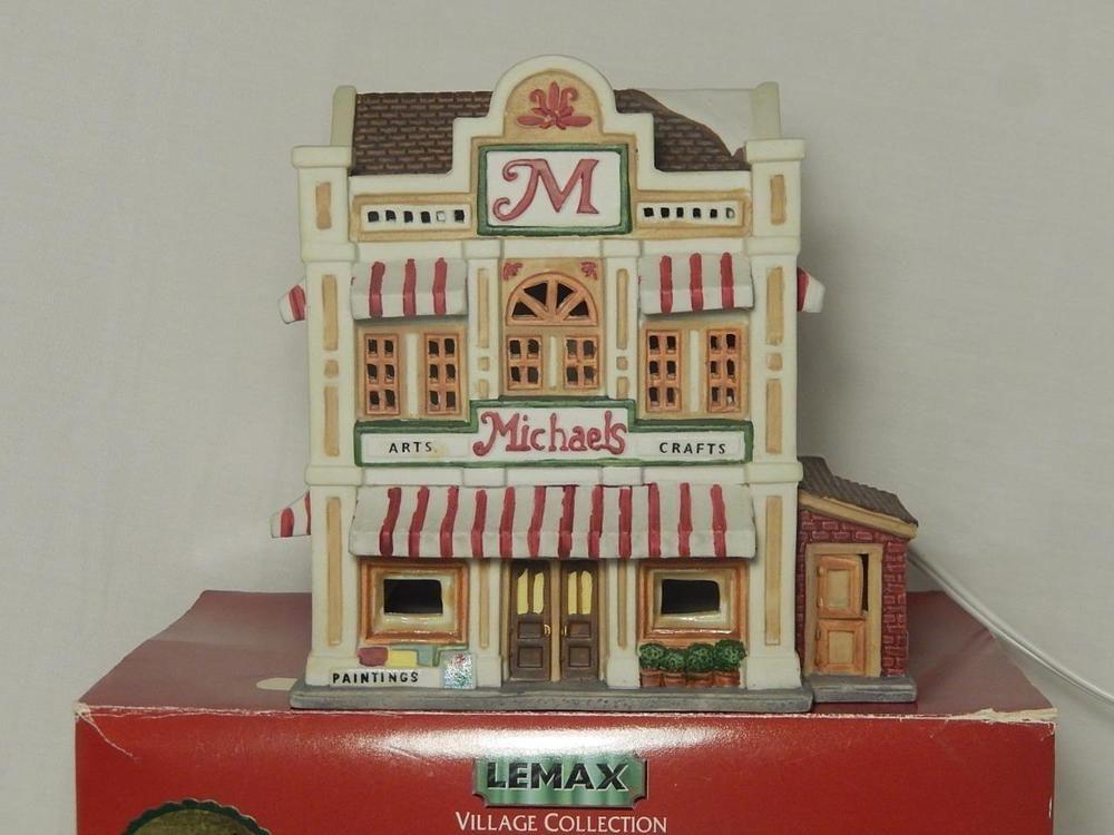 Lemax Christmas Village Michaels.Lemax Michaels Store Porcelain Lighted House 1998 6 Cord
