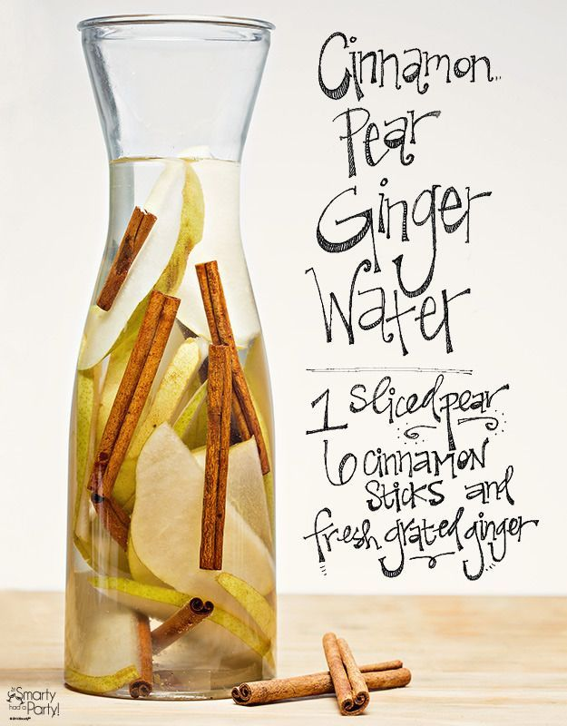 Cinnamon Pear Ginger Infused Water is the ultimate low-cal mocktail and so delicious for fall   Smarty Had a Party
