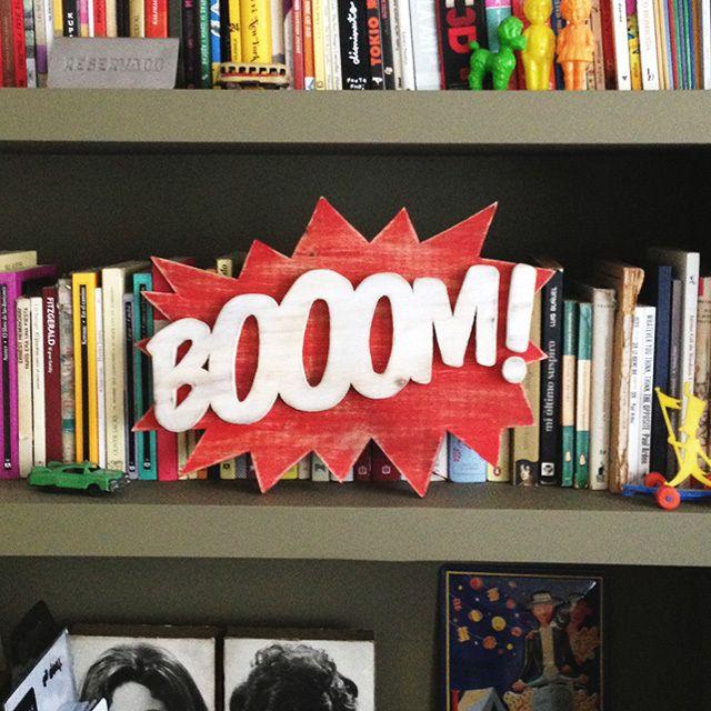 Bo0OM! - ga-rule #craft #typography #font #wood #lettering #letters #wooden