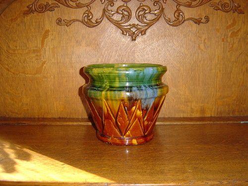 McCoy Pottery Indian Axtec Magelica Jardiniere | eBay