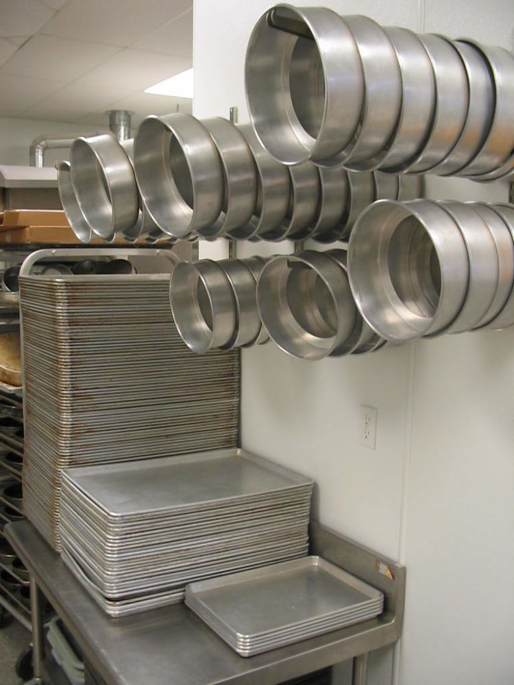 Half sheet pans are commonly used in commercial kitchens